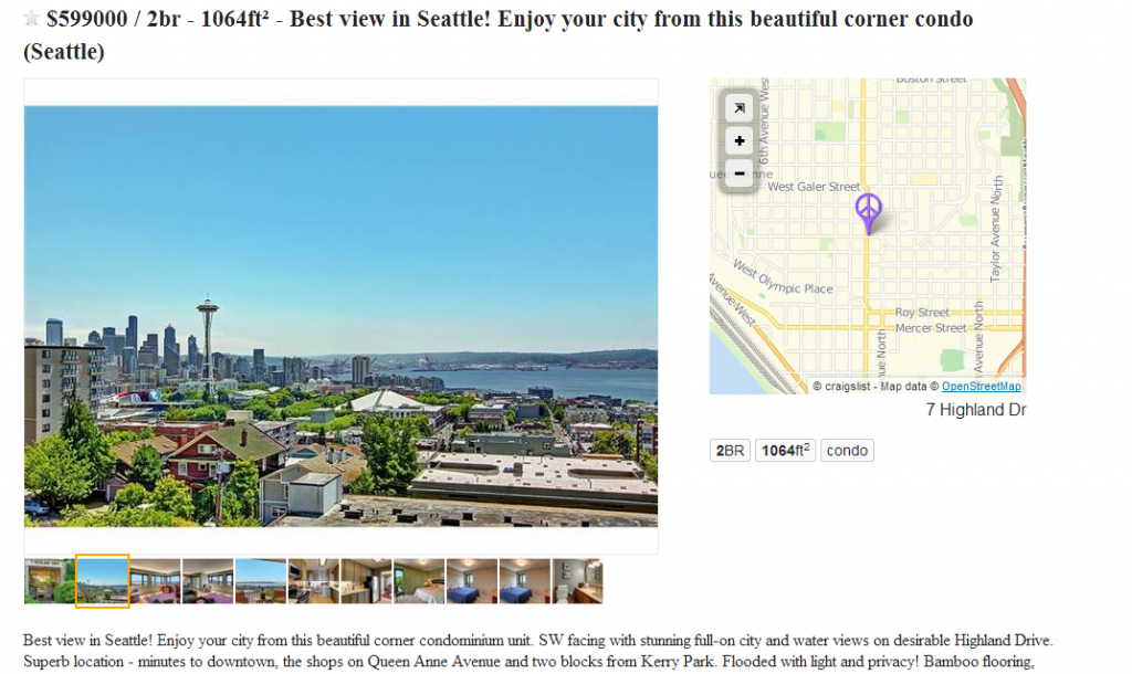 It is no longer possible to embed images in the body text of Craigslist real estate listings