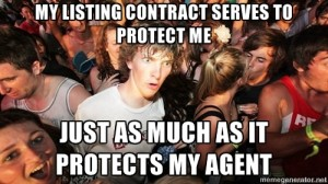 Real estate meme - sign a listing contract