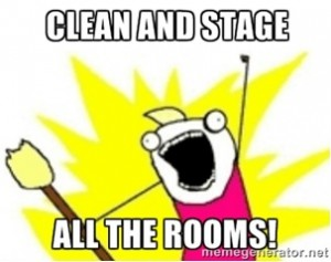 Real estate meme - clean and stage your home when selling it