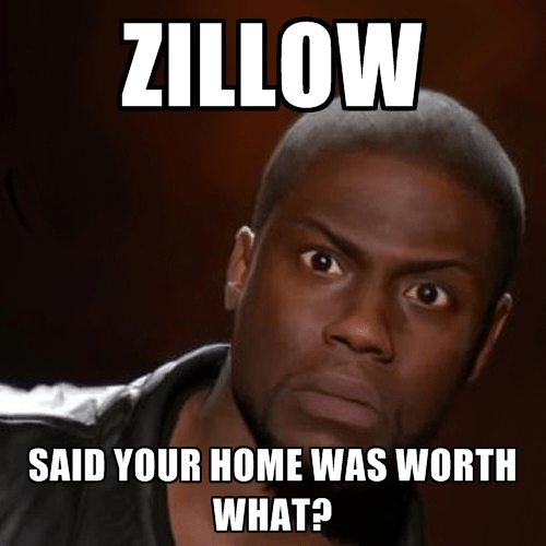 Kevin Hart Zillow Zestimate meme