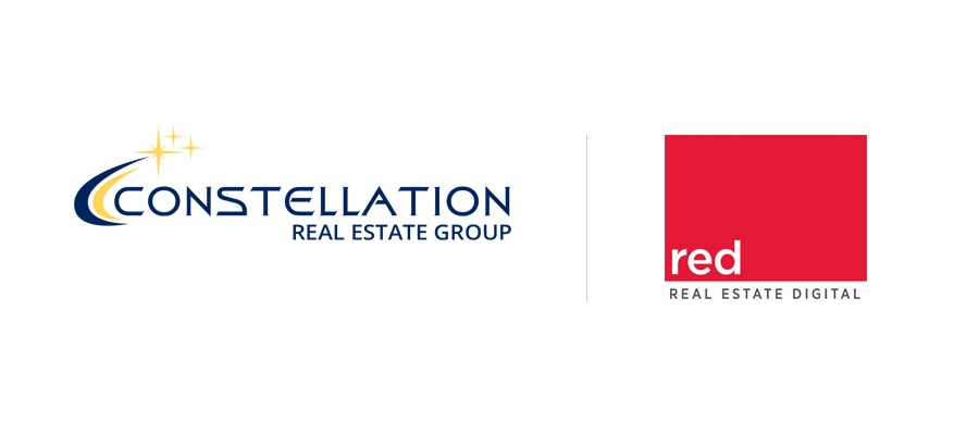 constellation real estate group and real estate digital co-branded visual with logos